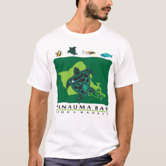 Camiseta Tartaruga de Oahu Havaí da baía de Hanauma