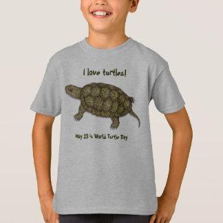Camiseta Tartaruga ocidental da lagoa