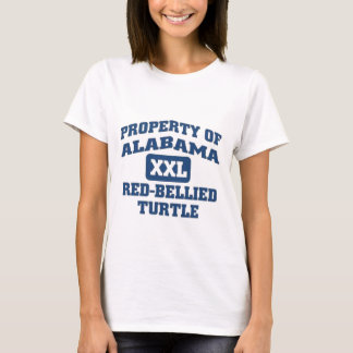 Camiseta Tartaruga Vermelho-Inchada XXL de Alabama
