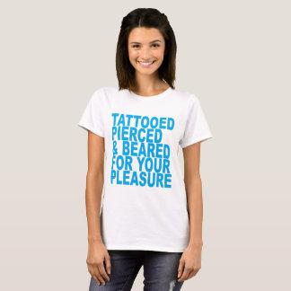 Camiseta Tattooed, perfurado, farpado para seu prazer T-Shi