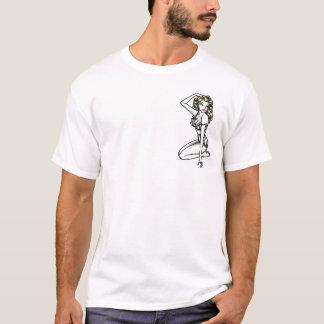 Camiseta Tatuagem T da menina Pin-Acima