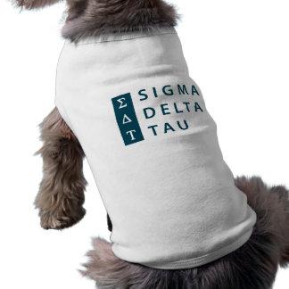 Camiseta Tau   do delta do Sigma empilhado