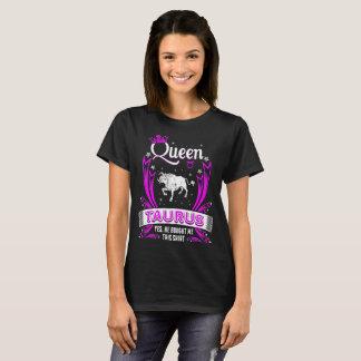 Camiseta Taurus da rainha comprou-me este Tshirt do zodíaco