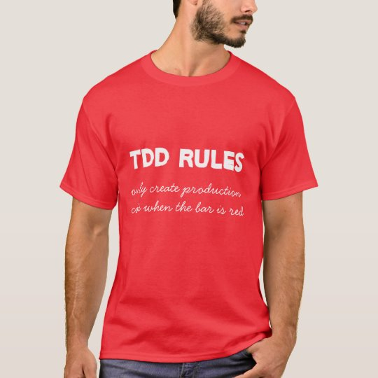 Camiseta TDD Rules - Red