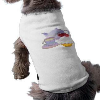Camiseta Teatime com coração dos cupcakes