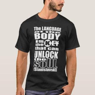 Camiseta Teatro independente - linguagem corporal