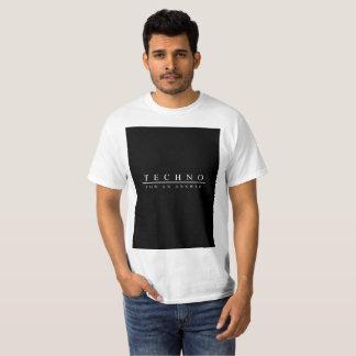 Camiseta Techno para uma resposta (branca)