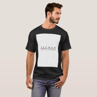 Camiseta Techno para uma resposta (preto)