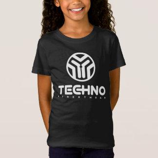 Camiseta Techno Streetwear - logotipo - t-shirt das meninas