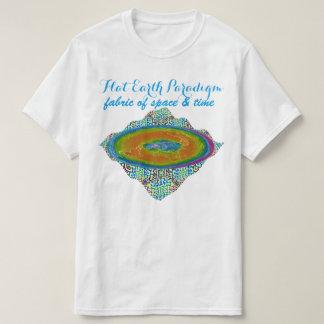 Camiseta Tecido liso do paradigma da terra do espaço & do