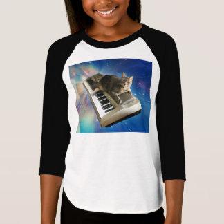 Camiseta teclado do gato