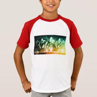 Camiseta Tecnologia avançada como ELE fundo do conceito