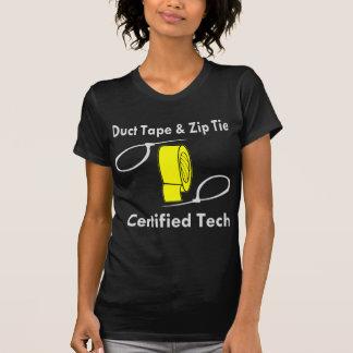 Camiseta Tecnologia certificada laço da fita adesiva & do