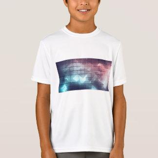 Camiseta Tecnologia da analítica com mover-se dos dados