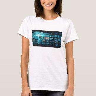 Camiseta Tecnologia da informação ou ELE Infotech como uma