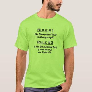 Camiseta Tecnologia do Biomedical da regra