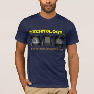 Camiseta Tecnologia… Fazer-me quebrou um dispositivo de