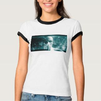 Camiseta Tecnologia futurista da ciência médica como uma