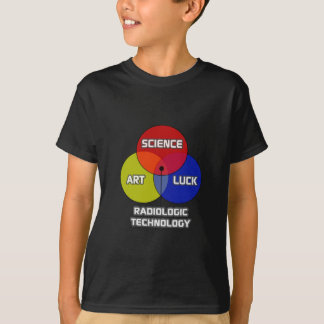 Camiseta Tecnologia radiológica. Sorte da arte da ciência