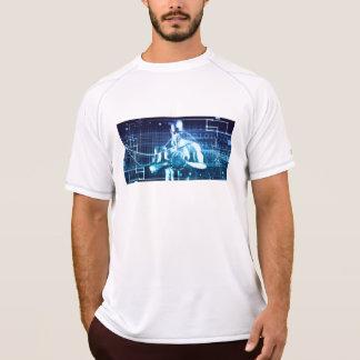 Camiseta Tecnologias integradas em um conceito nivelado