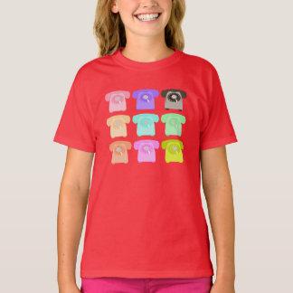 Camiseta telefone do seletor giratório do vintage