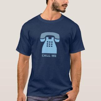Camiseta Telefonema retro azul icónico mim texto feito sob