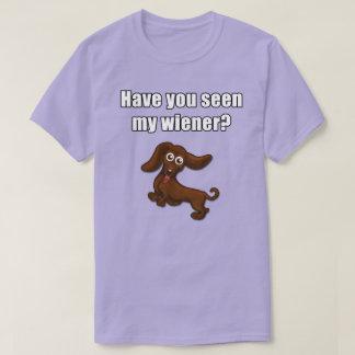 Camiseta Tem você visto meu wiener, dachshund engraçado