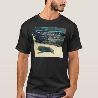 Camiseta Tema de inspiração da praia das citações da vida