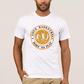 Camiseta Tema do basquetebol dos homens