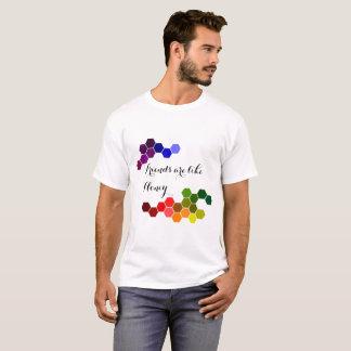 Camiseta Tema do mel com palavras positivas
