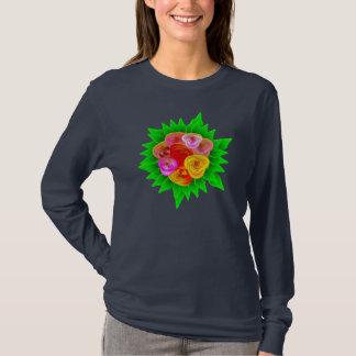 Camiseta Tema do t-shirt dos rosas - os rosas tradicionais