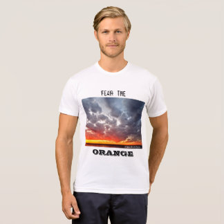 Camiseta Tema o t-shirt alaranjado