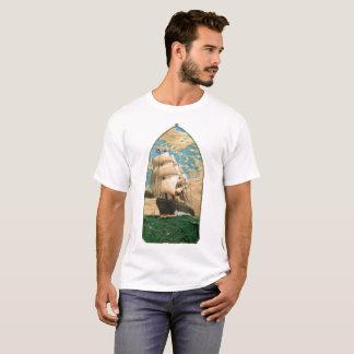 Camiseta Temático náutico com veleiro do vintage