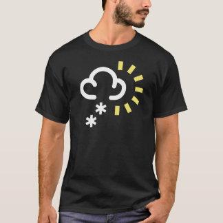 Camiseta Tempestade da neve: Símbolo retro da previsão de