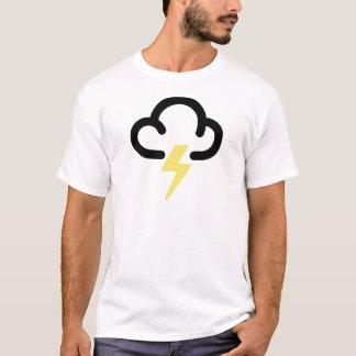Camiseta Tempestade do relâmpago: símbolo retro da previsão