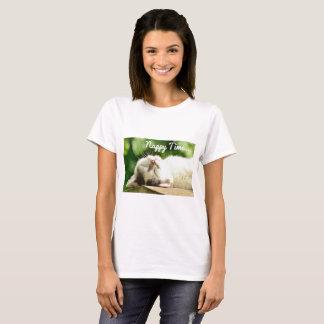 Camiseta Tempo da fralda do gato do gatinho