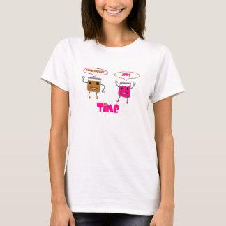Camiseta TEMPO da geléia da manteiga de amendoim!