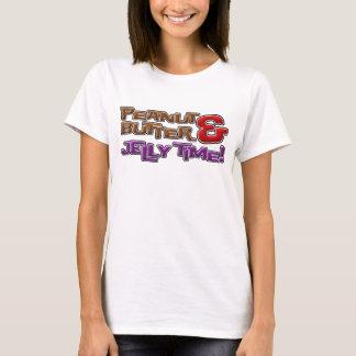 Camiseta Tempo da manteiga e da geléia de amendoim!