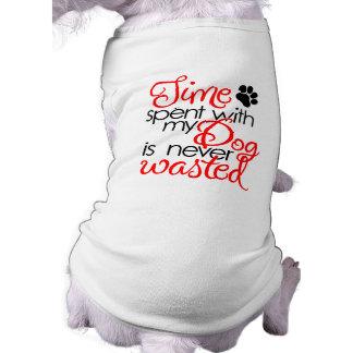 Camiseta Tempo do cão da qualidade