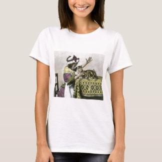 Camiseta Tempo do chá do Victorian com vintage do tea party