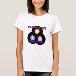 Camiseta Tempo retro do partido do rock and roll