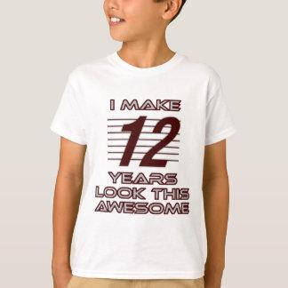 Camiseta TENDENDO o DESIGN do ANIVERSÁRIO do adolescente de