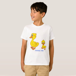 Camiseta Tendo o divertimento