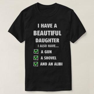Camiseta Tenha um T engraçado do pai da filha bonita