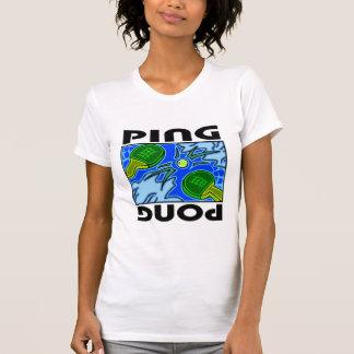 Camiseta Ténis de mesa das pás e da bola de Pong do sibilo