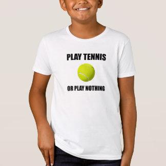 Camiseta Tênis ou nada do jogo
