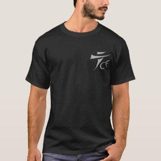 Camiseta Tenkara sobre - - voe o t-shirt escuro do logotipo