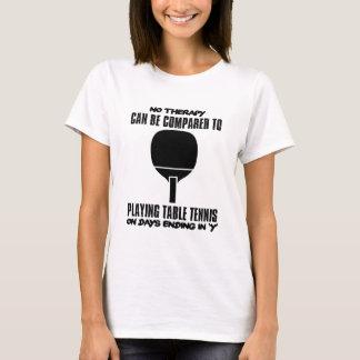 Camiseta Tensão e design impressionante do ténis de mesa