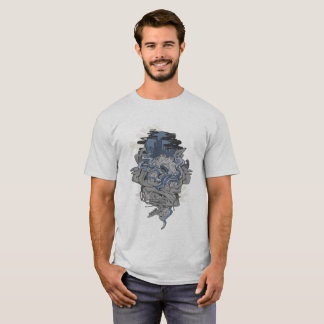 Camiseta Tentáculo azul