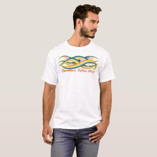 Camiseta Tentáculos tropicais da ilha do verão
